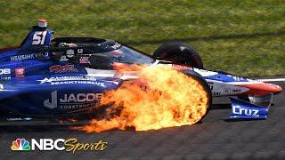 104th Indianapolis 500: James Davison's car engulfed in flames during Indy 500 | Motorsports on NBC