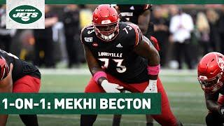 Mekhi Becton 1-On-1: Think The Offensive Line Will Have Good Chemistry | New York Jets | NFL