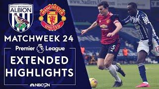 West Brom v. Manchester United   PREMIER LEAGUE HIGHLIGHTS   2/14/2021   NBC Sports