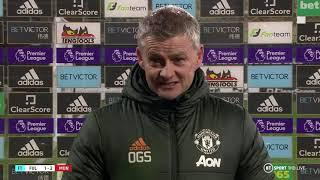 """""""Pogba is fit and playing very well"""" Solskjaer reacts to Fulham 1-2 Man Utd"""