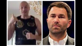 'FORGET JOSHUA, I'M COMING FOR YOU EDDIE - EXPECT THE PHONE CALL' - TYSON FURY CALLS OUT EDDIE HEARN