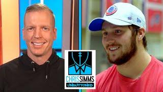 Josh Allen details chemistry with Stefon Diggs, new mechanics | Chris Simms Unbuttoned | NBC Sports