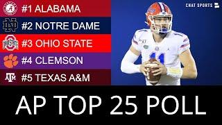 AP Poll: Top 25 College Football Rankings For Week 11 & 2020 Heisman Trophy Race Ft. Kyle Trask