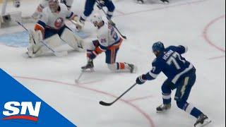 Victor Hedman Steps Into Rebound And Hammers It Past Semyon Varlamov