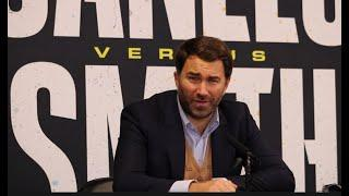 """""""TONIGHT!"""" EDDIE HEARN SAYS HE WILL MAKE THE FIGHT BETWEEN BILLY JOE SAUNDERS & CANELO NEXT!"""