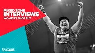 Women's Shot Put Interviews | World Athletics Championships Doha 2019