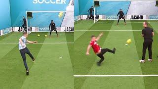 Middlesbrough fans try to beat Leeds record!   Volley Challenge
