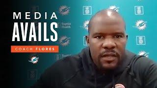 Coach Flores Discusses the Start of OTAs | Miami Dolphins Media Avails