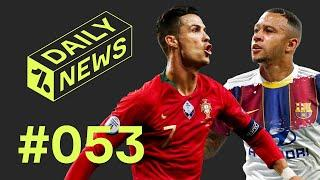 Cristiano breaks ANOTHER record + Depay to join Barcelona?  Daily News