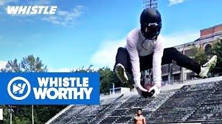 Top 10 INSANE Trick Football Catches