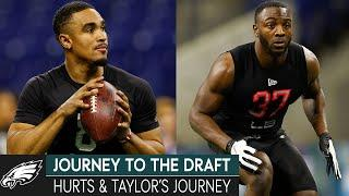 The Journey for Jalen Hurts & Davion Taylor | Journey to the Draft