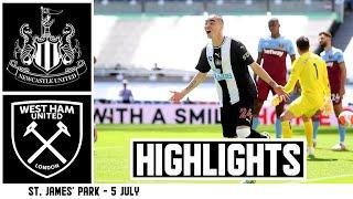Newcastle United 2 West Ham United 2 | Premier League Highlights