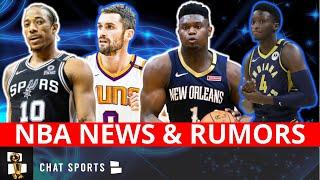 NBA News On Zion Williamson & DeMar DeRozan + Rumors On Victor Oladipo & A Possible Kevin Love Trade