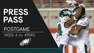 Eagles Players React to Win Over 49ers | Eagles Press Pass