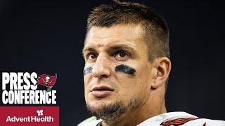 Rob Gronkowski on Tom Brady & Bucs Playing At A High Level | Press Conference