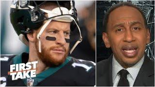 Stephen A. refuses to think Carson Wentz's career is finished | First Take
