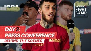 Fight Camp: Week 1, Day 3 - Eggington vs Cheeseman (Behind The Scenes) Press Conference