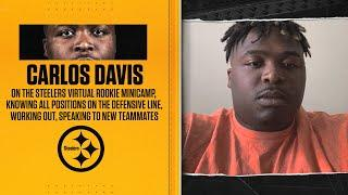 DT Carlos Davis on virtual rookie minicamp, learning all positions of defensive line, his schedule