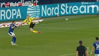 Erling Braut Haaland scores a magnificent bicycle kick in the Revierderby | He's a machine!