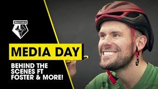 FOSTER WITH A TOOTHBRUSH IN A CYCLING HELMET!  | BEHIND THE SCENES AT MEDIA DAY FT JOÃO PEDRO & MORE