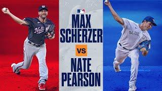Blue Jays Nate Pearson vs. Nationals Max Scherzer: Epic duel in phenom's debut vs. 7-time All-Star