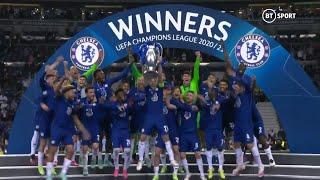 Chelsea lift the 2020/21 Champions League trophy! Winners for a second time!