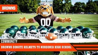 Browns Donate Helmets to Nordonia High School | Youth Football