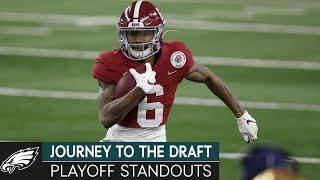 College Football Playoff Standouts; Scouting Lane Johnson | Journey to the Draft