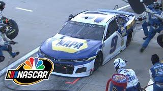 Chase Elliott's pit crew avoids penalty during NASCAR Cup race at Martinsville | Motorsports on NBC