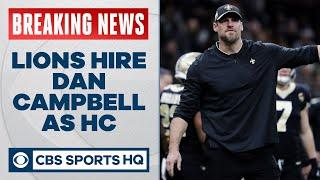 BREAKING: Lions hiring Dan Campbell as next head coach | CBS Sports HQ