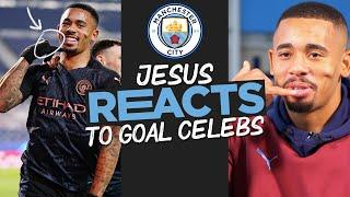 GABRIEL JESUS REACTS! | GOAL CELEBRATIONS | Phone home... and tell them to watch this!