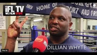 'ANDY RUIZ IS A FAT PIECE OF S***' - DILLIAN WHYTE GOES IN, TALKS FURY-WILDER/WBC, MAY 2ND DOUBTS