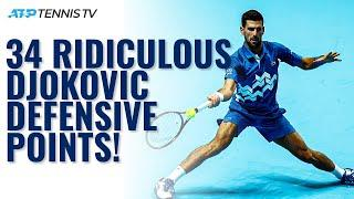 34 Times Novak Djokovic Won A Tennis Point With RIDICULOUS Defence! ️
