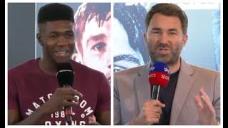 EDDIE HEARN UNVEILS NEW SIGNING! LERRONE RICHARDS (FULL) MATCHROOM PRESS CONFERENCE w/ DAVE COLDWELL