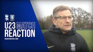 Spooner - I can't fault the players | Blues U23s 5-1 Sheffield Wednesday U23s