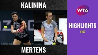 Anhelina Kalinina vs. Elise Mertens | 2020 Linz First Round | WTA Highlights