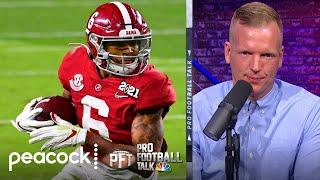 Chris Simms defends his 2021 NFL Draft WR rankings | Pro Football Talk | NBC Sports