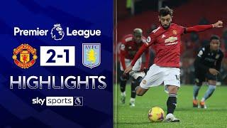 Man Utd beat Villa to go level on points with Liverpool! | Man Utd 2-1 Aston Villa | EPL Highlights