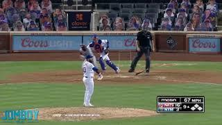 Shortstop Luis Guillorme pitches an easy 1 2 3 inning, a breakdown