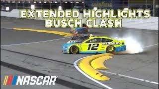 Chase Elliott & Ryan Blaney tangle on final lap, Kyle Busch wins | Busch Clash Extended Highlights