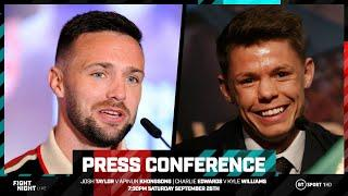 Live press conference with Josh Taylor and Charlie Edwards