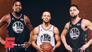 Stephen A. answers: Is the KD-Harden-Kyrie trio better than KD and the Splash Brothers? | KJZ