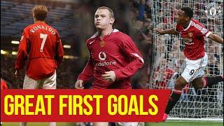 Great First Goals | Cristiano Ronaldo, Wayne Rooney, Anthony Martial, Amad | Manchester United