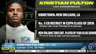 Titans Select LSU CB Kristian Fulton with No. 61 Pick in 2020 NFL Draft