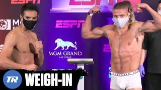Jose Zepeda and Ivan Baranchyk Make Weight, #1 Contender Fight Official | FULL WEIGH IN