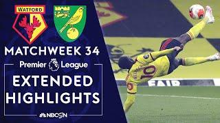 Watford v. Norwich City | PREMIER LEAGUE HIGHLIGHTS | 7/7/2020 | NBC Sports