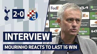 Mourinho satisfied after Europa League Last 16 win | SPURS 2-0 DINAMO ZAGREB