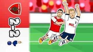 2-2! Arsenal vs Spurs Feat. Kane's Dive (Parody Goals Highlights 2019 North London Derby)