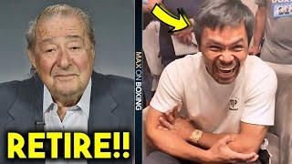 (OMG!) BOB ARUM SENDS WARNING TO PACQUIAO FOR FIGHTING GGG! MANNY RESPONDS LAUGHING FOR EASY FIGHT!