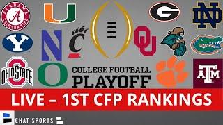 CFP Rankings LIVE – Top 25 Teams In First College Football Playoff Rankings For 2021